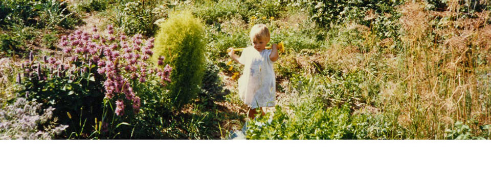 Eliza in the garden